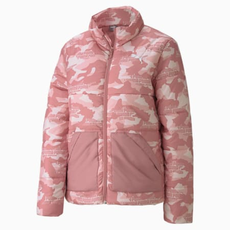 Essential+ Graphic Padded Women's Jacket, Foxglove, small-IND