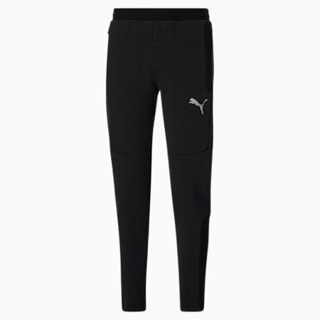 Pantalons en molleton Evostripe,homme, Coton noir bruyère - Noir, petit
