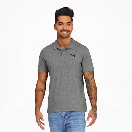 Camiseta tipo polo Essentials para hombre, Medium Gray Heather, pequeño