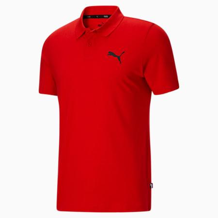 Camiseta tipo polo Essentials para hombre, High Risk Red, pequeño