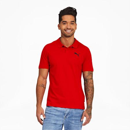Polo en jersey Essentials, homme, Rouge risque élevé, petit