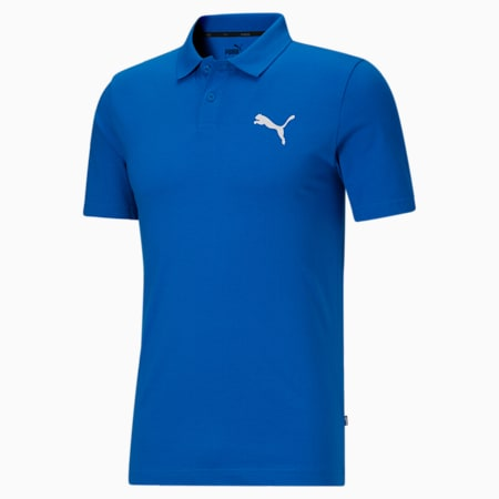 Polo en jersey Essentials, homme, Bleu futur/Blanc, petit