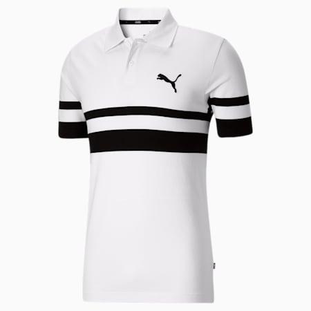 Camiseta tipo polo Essentialscon logoPUMA Catpara hombre, Puma White-Puma Black, pequeño