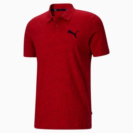 Camiseta tipo polo EssentialsHeather para hombre, High Risk Red Heather, pequeño
