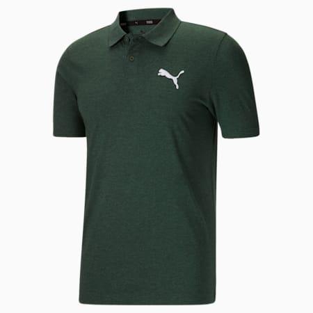 Camiseta tipo polo EssentialsHeather para hombre, Grape Leaf HTR/White, pequeño