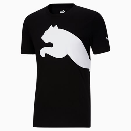 Camiseta con logo extragrande para hombre, Puma Black, pequeño