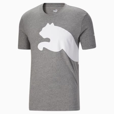 Camiseta con logo extragrande para hombre, Medium Gray Heather, pequeño