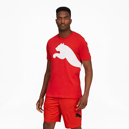 Camiseta con logo extragrande para hombre, High Risk Red, pequeño