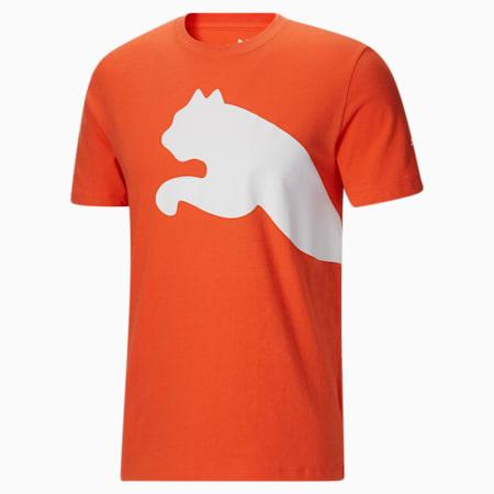 Camiseta con logo extragrande para hombre, Tigerlily, pequeño