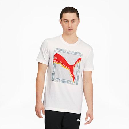 T-shirt carréIllusion, homme, Blanc Puma, petit
