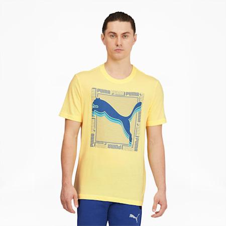 T-shirt carréIllusion, homme, Poire jaune, petit