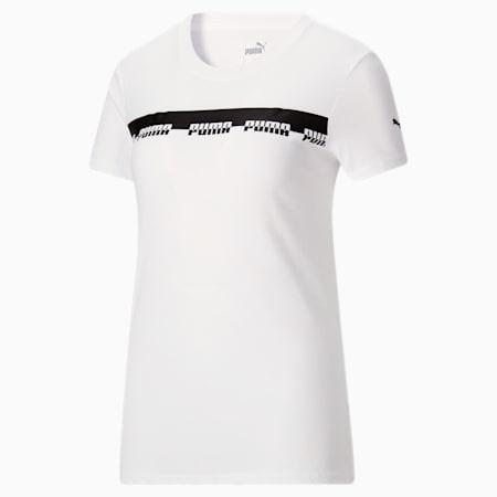 T-shirt Script, femme, Blanc Puma, petit