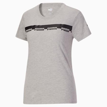 T-shirt Script, femme, Gris bruyère clair, petit