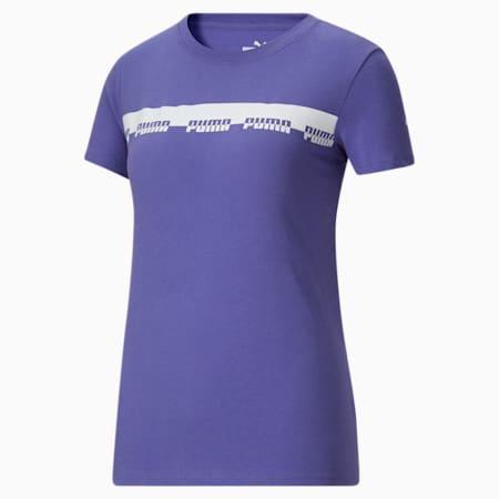 T-shirt Script, femme, Bleu brumeux, petit
