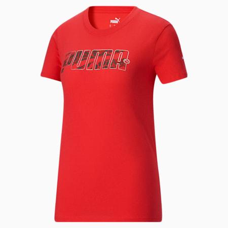 T-shirt Script, femme, Rouge pavot, petit