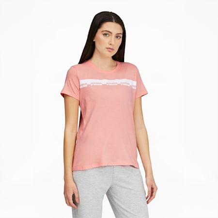 T-shirt Script, femme, Abricot pâle, petit