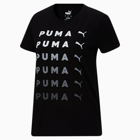 T-shirt PUMA Repeat, femme, Puma Black, petit