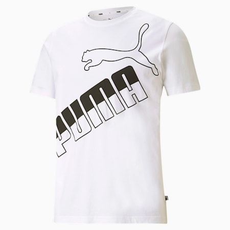 ビッグ ロゴ Tシャツ, Puma White, small-JPN