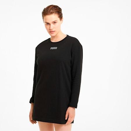 モダン ベーシック クルー スウェット ドレス ウィメンズ, Puma Black, small-JPN
