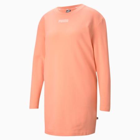 モダン ベーシック クルー スウェット ドレス ウィメンズ, Apricot Blush, small-JPN
