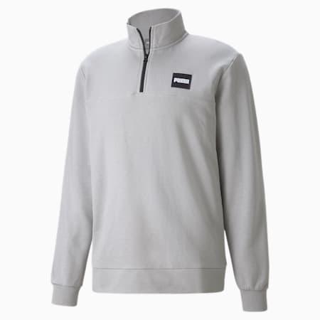 Half-Zip Crew Men's Sweatshirt, Drizzle, small-GBR