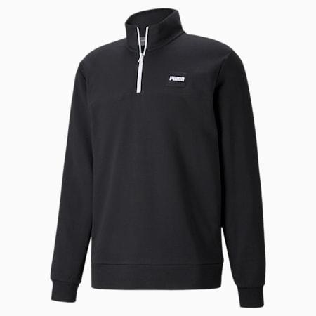 Half-Zip Crew Men's Sweatshirt, Puma Black, small-GBR