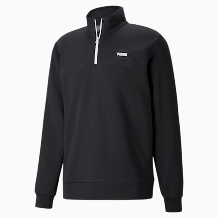 Half-Zip Crew Men's Sweatshirt, Puma Black, small