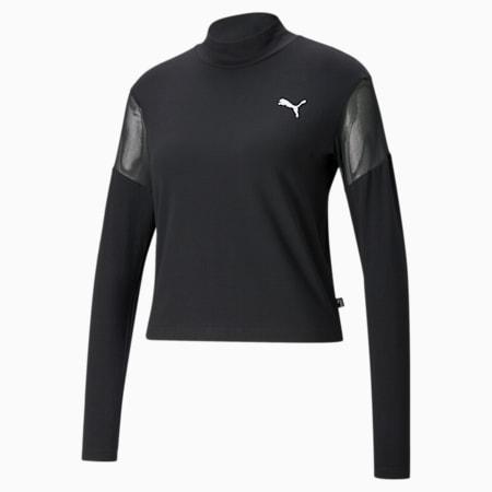 Mesh Long Sleeve Women's Top, Puma Black, small-GBR