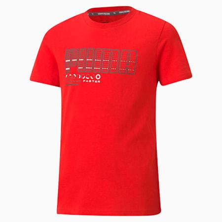 キッズ ACTIVE SPORTS グラフィック Tシャツ 120-160cm, High Risk Red, small-JPN
