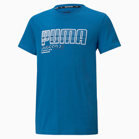 キッズ ACTIVE SPORTS グラフィック Tシャツ 120-160cm, Star Sapphire, small-JPN