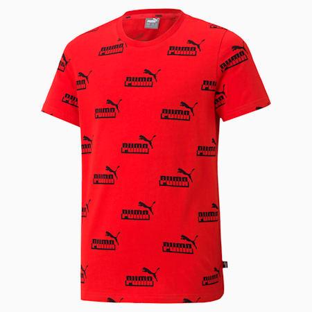 キッズ AMPLIFIED AOP Tシャツ 120-160cm, High Risk Red, small-JPN