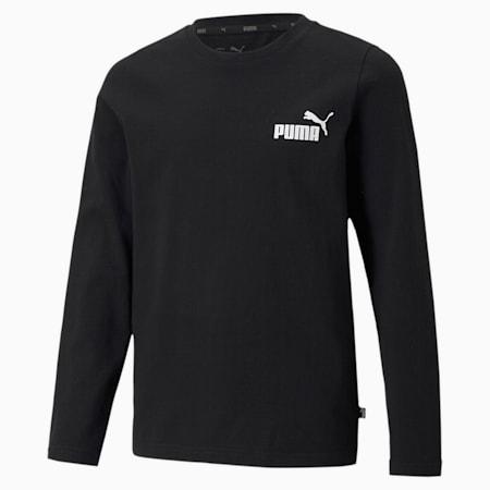 キッズ ESS NO.1 ロゴ 長袖 Tシャツ 120-160cm, Puma Black, small-JPN