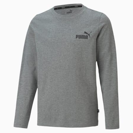 キッズ ESS NO.1 ロゴ 長袖 Tシャツ 120-160cm, Medium Gray Heather, small-JPN