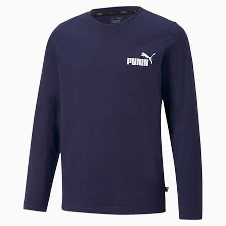 キッズ ESS NO.1 ロゴ 長袖 Tシャツ 120-160cm, Peacoat, small-JPN
