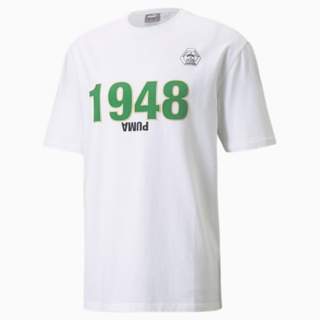 T-shirt da basket PUMA x RHUIGI uomo, Puma White-White, small