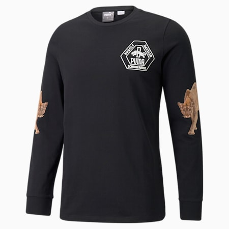 PUMA x RHUIGI basketbalshirt met lange mouwen heren, Puma Black, small
