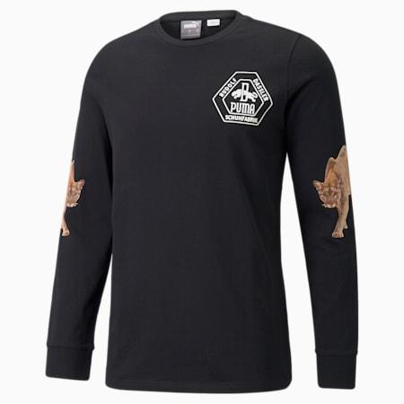 Camiseta de básquetbol de mangas largasPUMA x RHUIGIpara hombre, Puma Black, pequeño