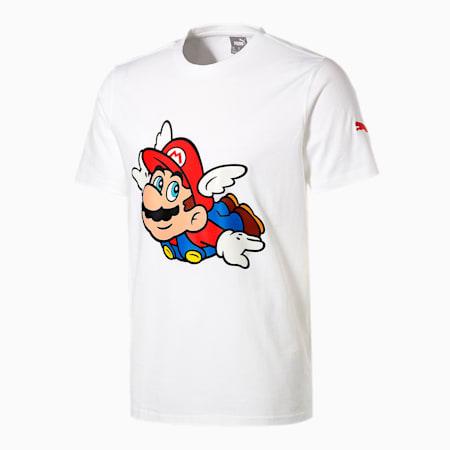 PUMA x SUPER MARIO メンズ バスケットボール 半袖 Tシャツ, Puma White-SM64, small-JPN