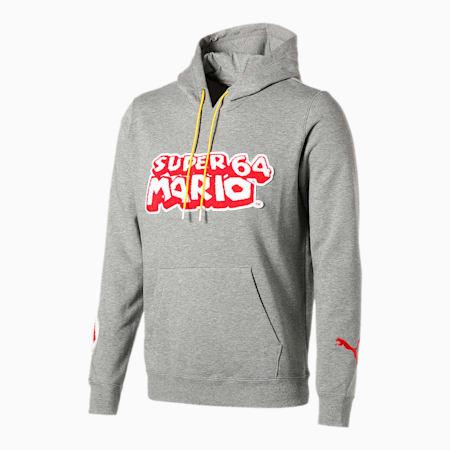PUMA x SUPER MARIO メンズ バスケットボール フーデッド スウェット, Medium Gray Heather-SM64, small-JPN