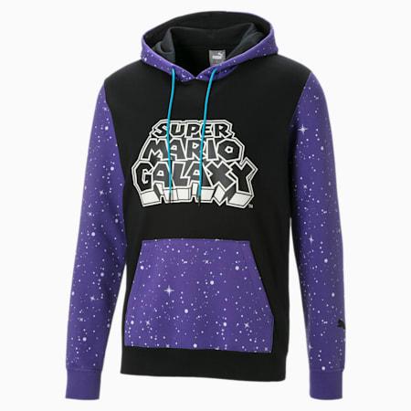 Super Mario™ Basketball hoodie voor heren, Cotton Black-SMG, small