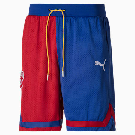 Super Mario™ Knitted Men's Basketball Shorts, High Risk Red-SM64, small