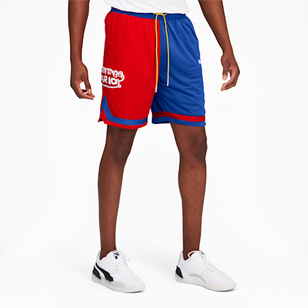 Super Mario™ Men's Knitted Shorts, High Risk Red-SM64, small
