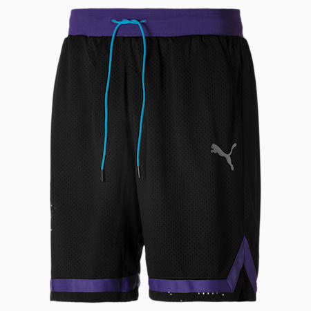 Short  en maille Super Mario™ Basketball pour homme, Puma Black-SMG, small