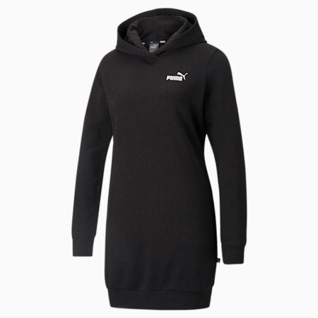 Vestido con capucha Essentials para mujer, Puma Black, pequeño