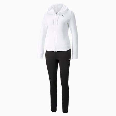 Classic Hooded Women's Tracksuit, Puma White, small-GBR