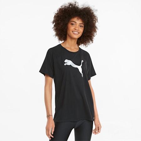 Evostripe Damen T-Shirt, Puma Black, small