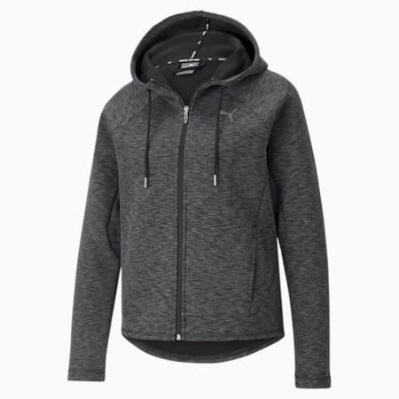 Evostripe Full-Zip Regular Fit Women's Hoodie, Puma Black, small-IND