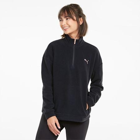 Evostripe Damen Sweatshirt mit hohem Rundhalsausschnitt, Puma Black, small