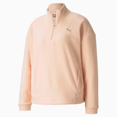 Evostripe Damen Sweatshirt mit hohem Rundhalsausschnitt, Peach Parfait, small