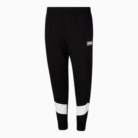 Pantalones deportivos de polar RebelBT para hombre, Puma Black-Puma White, pequeño